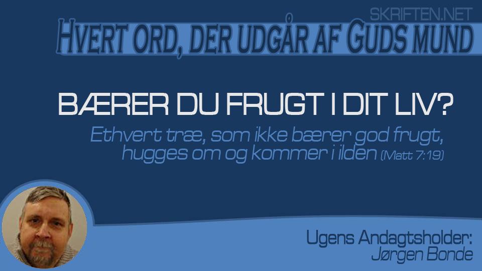andagt Jørgen 09,01,15