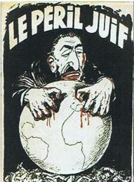 Denne franske forside fra 1934-udgaven af »Zions Vises Protokoller« illustrerer tydeligt bogens hovedpåstand: Jøderne forsøger at vinde verdensherredømmet.